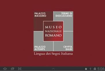 App Palazzo Massimo in lis vince premio turismo accessibile