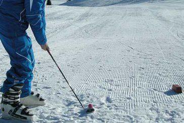 Torneo di golf sulle nevi dell'Alpe Siusi