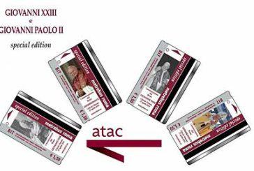 A Roma ticket bus in edizione limitata con immagini inedite dei due Papi