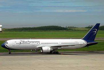 Minaccia passeggeri a bordo, atterraggio emergenzaper aereo Blue Panorama