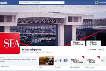 Gli aeroporti di Milano conquistano Facebook