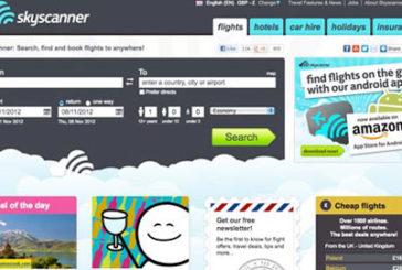Oltre 35 mln di utenti per Skyscanner nel 2014: bene il passaggio dai voli ai viaggi