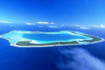 Mappamondo presenta le Isole di Tahiti agli adv sardi