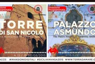 Invasioni digitali a Palazzo Asmundo e Torre S. Nicolò con Terradamare
