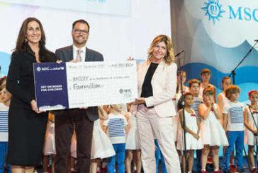 Msc Crociere dona ad Unicef 4mln di euro