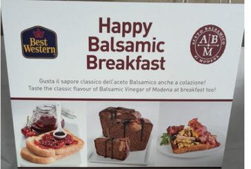 Best Western, a colazione con l'Aceto Balsamico di Modena