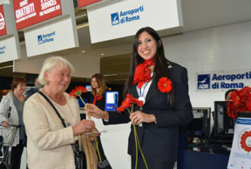 A Fiumicino e Ciampino fiori per i passeggeri nella 'Giornata della Gentilezza'