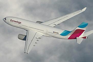 Eurowings, 4 nuove rotte nella Summer dall'Aeroporto Olbia Costa Smeralda