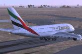 Libano spera in ripresa turismo: volo di prova A380 Emirates a Beirut