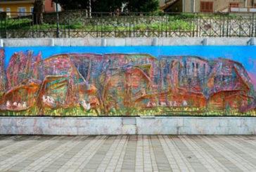 Alia, murales ispirato al mito della Gurfa per valorizzare il belvedere