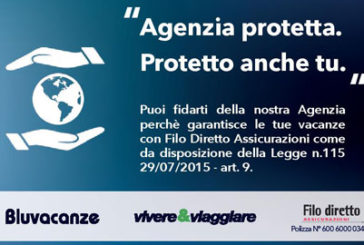 Bluvacanze, al via campagna 'Agenzia protetta, protetto anche tu'