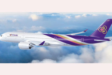 L'innovativo Airbus A350-900 di Thai Airways solca i cieli italiani