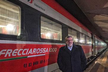 Emiliano a bordo del primo Frecciarossa in partenza da Taranto