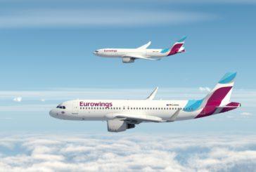 Eurowings per l'estate 2019 vola su Bologna, Firenze, Genova e Brindisi