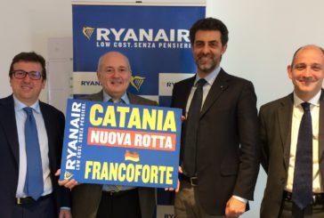 Ryanair lancia i nuovi voli invernali da Catania per Francoforte e Cagliari