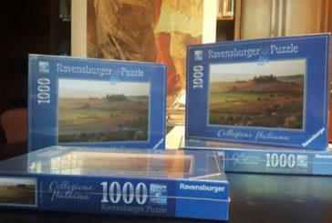 Ravensburger sceglie campagna San Quirico d'Orcia per i suoi puzzle