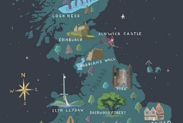 Una mappa interattiva per scoprire i luoghi 'magici' del Regno Unito