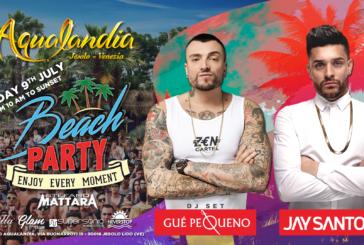 La musica di Jay Santos e Gue' Pequeno al 1° Aqualandia Beach Party 2017