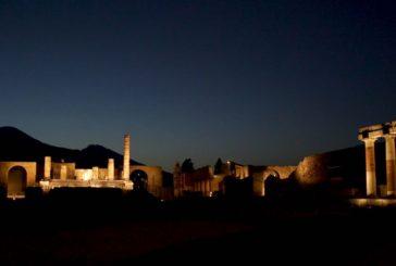 Pompei adesso brilla anche di notte. Franceschini: passo importante per la rinascita del sito