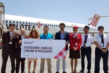 Volotea festeggia i 2 mln di passeggeri a Catania