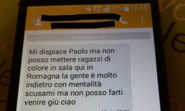 Cervia, cameriere milanese respinto perché nero: