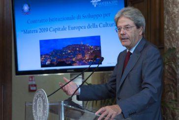 Matera 2019, Gentiloni firma Contratto istituzionale sviluppo