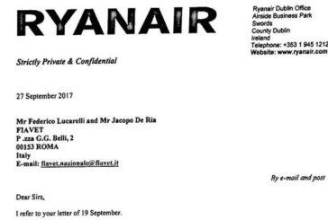 Fiavet: Ryanair dovrà risarcire anche adv e TO