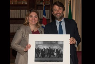 Franceschini incontra ministro cultura inglese Bradley