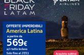 Prezzi scontanti con il Black Friday di Latam Airlines per volare in America Latina