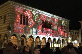 Il Natale di Udine si accende con il videomapping sulla Loggia di Palazzo Lionello