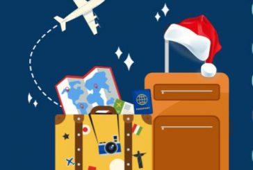 13 milioni con la valigia durante le vacanze di fine anno. Buon Natale da Travelnostop!