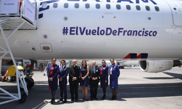 Aereo Privato Vaticano : Latam presenta l aereo che utilizzerà papa francesco per