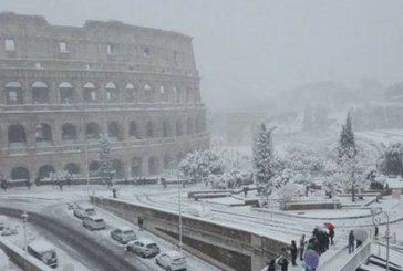 Ritardi nel traffico ferroviario a Roma per la neve, poche criticità sulle altre tratte