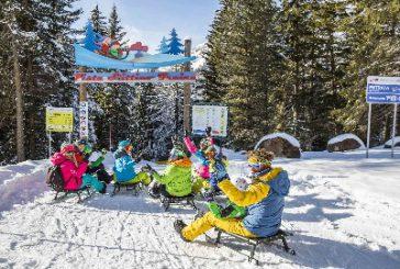 La ski area Alpe Lusia/San Pellegrino in versione 'formato famiglia'