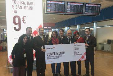 Volotea regala un anno di voli gratis alla vincitrice della caccia al tesoro di Palermo