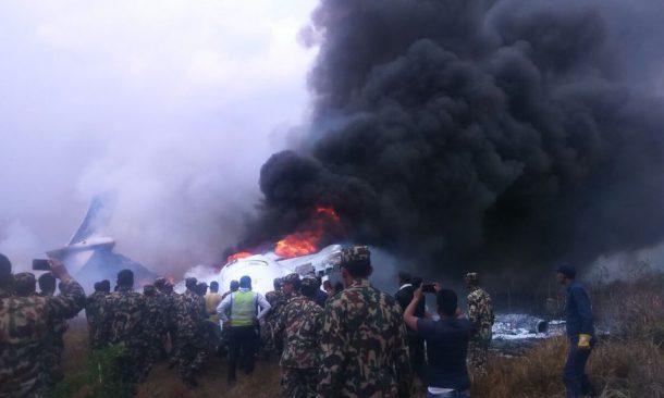 C'è stato un incidente aereo all'aeroporto internazionale di Katmandu, in Nepal