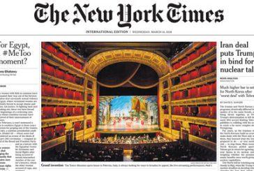 Il NYT dedica la copertina a Palermo e al Teatro Massimo