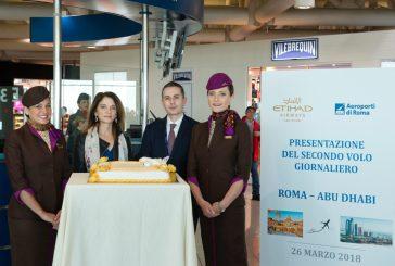 Etihad Airways e AdR celebrano il secondo volo giornaliero tra Roma e Abu Dhabi