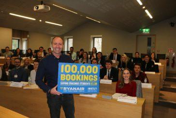Ryanair festeggia 100.000 prenotazioni dell'Erasmus Student Network