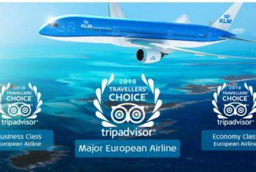 Assegnato a KLM il 'TripAdvisor Travelers' Choice Award 2018'