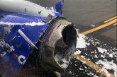 Motore aereo esplode su volo Ny-Dallas: 1 morto e 7 feriti