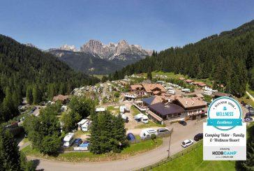 Il Camping Vidor a Pozza di Fassa guida la top 10 dei miglior campeggi Wellness 2018