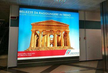 All'aeroporto di Palermo la promozione di Agrigento corre sui binari