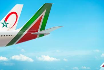 Alitalia sigla accordo di codeshare con Royal Air Maroc