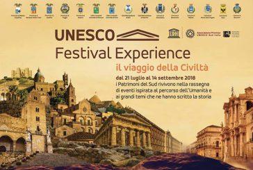 Noto unica tappa siciliana dell'Unesco Festival Experience