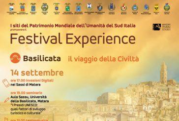 Unesco, a Matera l'appuntamento conclusivo del 'Festival Experience'
