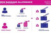 Nuove regole bagagli per Wizz Air: trolley in cabina solo con priority