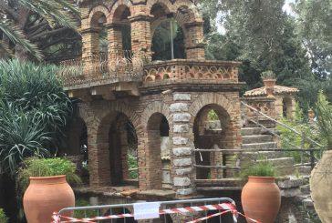 Taormina, le torrette della Villa Comunale rischiano di crollare
