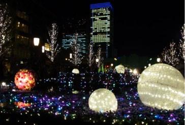La magia delle feste illumina Tokyo con scintillanti luci a LED