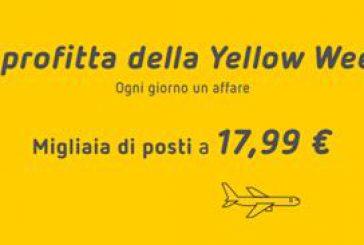 Con la Yellow Week di Vueling ogni giorno una nuova offerta fino al Black Friday